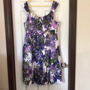 Plus size signature dress barn multicolor dress